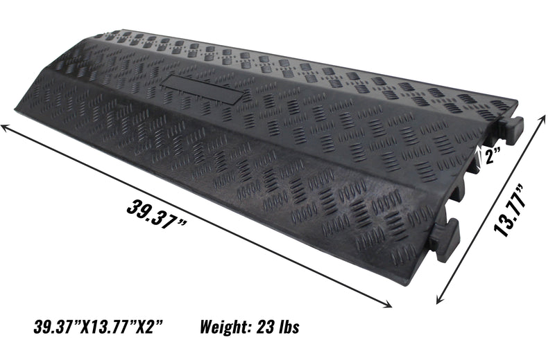RK Safety RK-CR6 3 Channel Cable/Hose Protector Ramp-RK Safety-RK Safety
