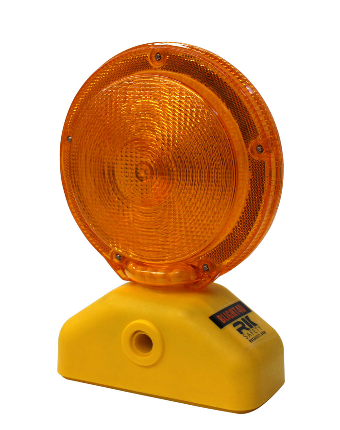 RK Safety BLIGHT4D Barricade Light, D-cell with Photocell, 3-Way Switch, Yellow Case/Red Lens (1 piece)-RK Safety-RK Safety