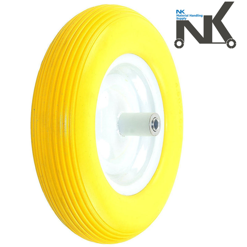 NK WFF16-YEL Flat-Free Wheelbarrow Tire-NK-RK Safety