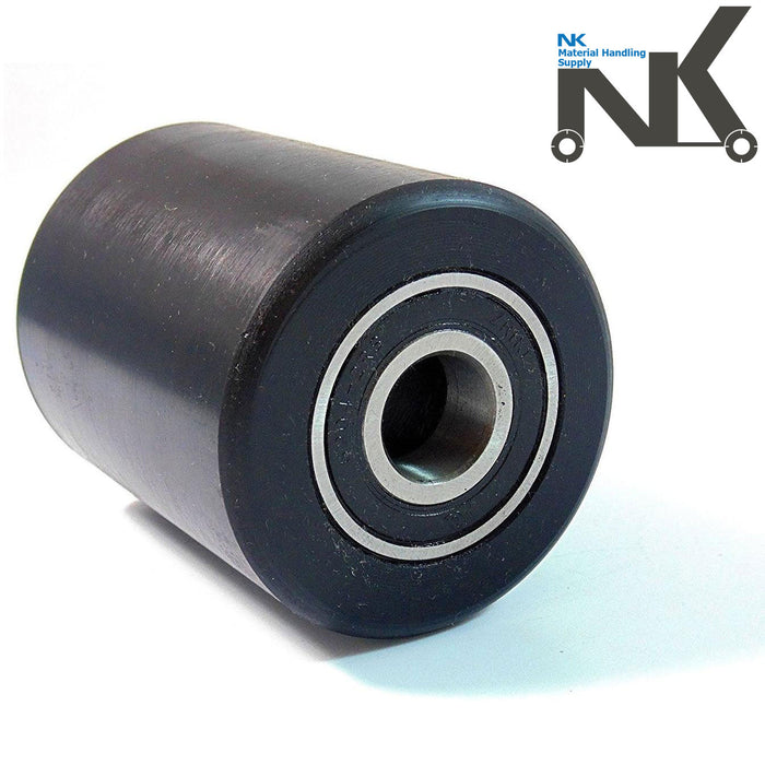 "Pallet Jack Replacement Load Support Nylon Wheel- 3"" Diameter x 3-5/8"" Wide 20 mm ID-NK-RK Safety"