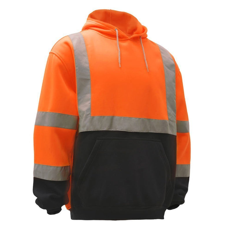 Class 3 High Visibility Sweatshirt, Hooded Pullover - H8311-New York Hi-Viz Workwear-RK Safety