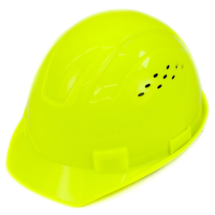 RK Safety RK-HP14-HG Hard Hat Cap Style with 4 Point Ratchet Suspension (Hi vis green) - RK Safety