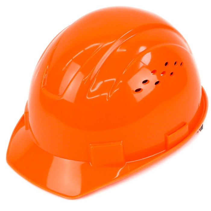 RK Safety RK-HP14-HO Hard Hat Cap Style with 4 Point Ratchet Suspension (Hi vis Orange) - RK Safety