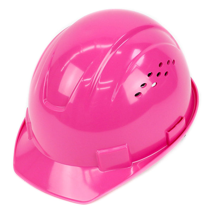 RK Safety RK-HP14-HP Hard Hat Cap Style with 4 Point Ratchet Suspension (Hi vis pink) - RK Safety