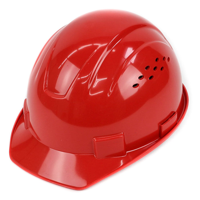 RK Safety RK-HP14-RD Hard Hat Cap Style with 4 Point Ratchet Suspension (Red)-RK Safety-RK Safety