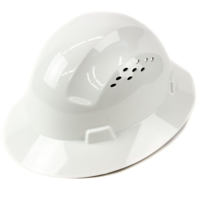 RK Safety RK-HP24-WH White Hard Hat Brim Style with 4 Point Ratchet Suspension - RK Safety