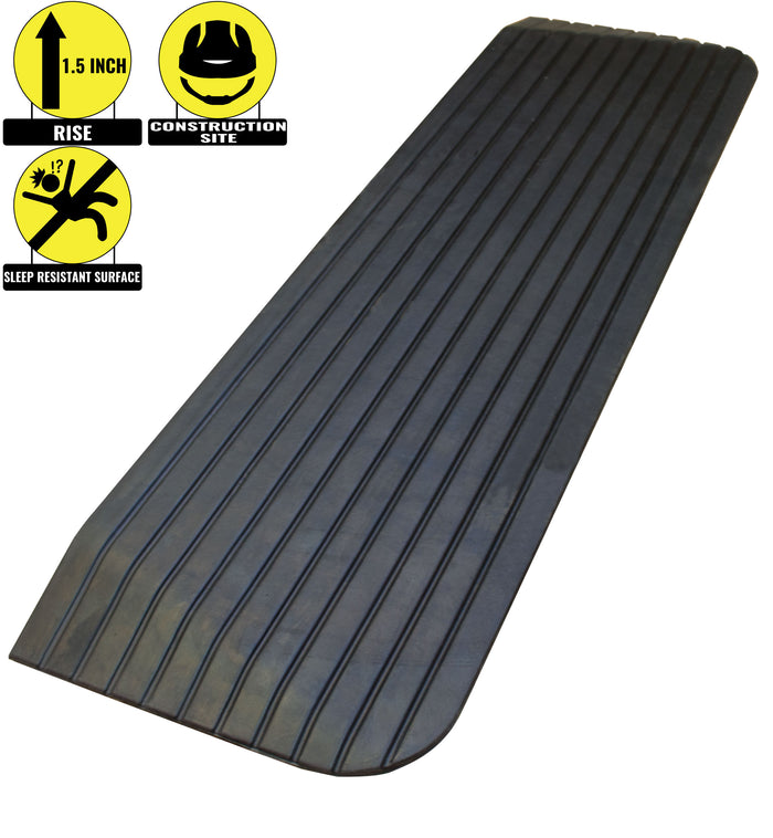 "RK Safety RK-RTR02 1.5"" Rise Solid Rubber Power WheelChair Scooter Threshold Ramp - RK Safety"