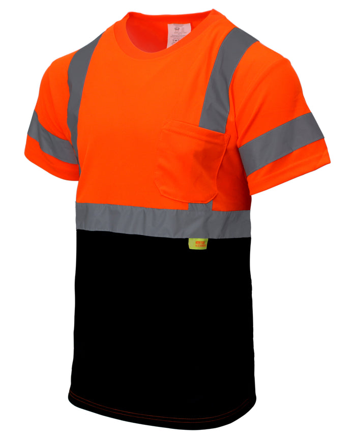Class 3 Hi-Vis T Shirt with Moisture Wicking Mesh Orange/ Lime- BFS8511/2-New York Hi-Viz Workwear-RK Safety