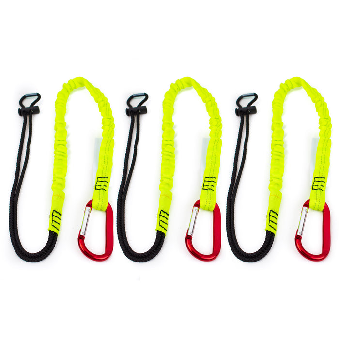 Spidergard 3 ft Tool Lanyard with Single Carabiner, Lime - RK Safety