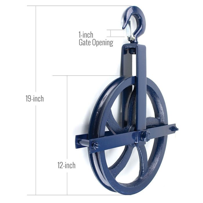 RK-GW12 Heavy-Duty 12 -Inch Diameter Gin Wheel, Gin Block-Spidergard-RK Safety