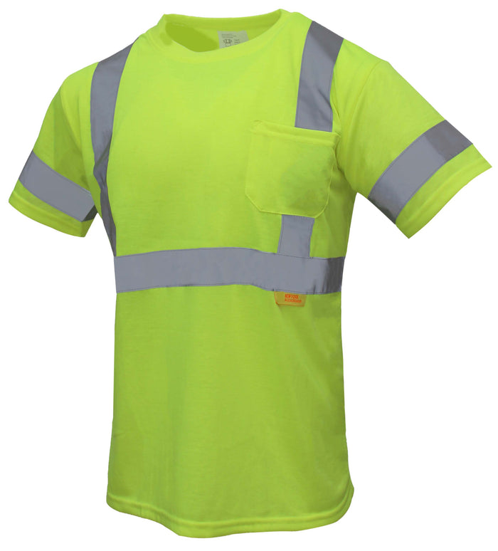 (Orange/Lime)Class 3 High Vis Reflective Short Sleeve Safety Shirt - 9081,9082-New York Hi-Viz Workwear-RK Safety
