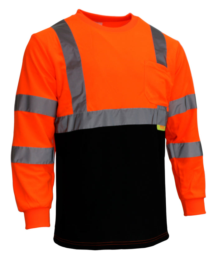 BFL8711;2 Class 3 Hi-Vis T Shirt with Moisture Wicking Mesh-(Lime/ Orange)-New York Hi-Viz Workwear-RK Safety