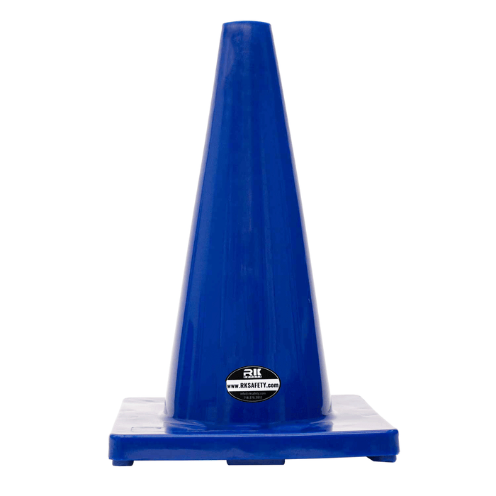 "18"" RK Safety Traffic PVC Cones, Blue Base-RK Safety-RK Safety"
