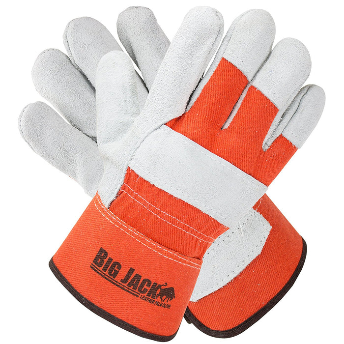 Better Grip® Cowhide Palm Gloves with rubberized safety cuff - BGBY22O - RK Safety