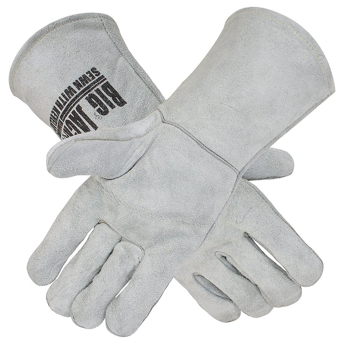Leather Welding Gloves with Premium Kevlar Stitching - BGBYWELD1-Better Grip-RK Safety
