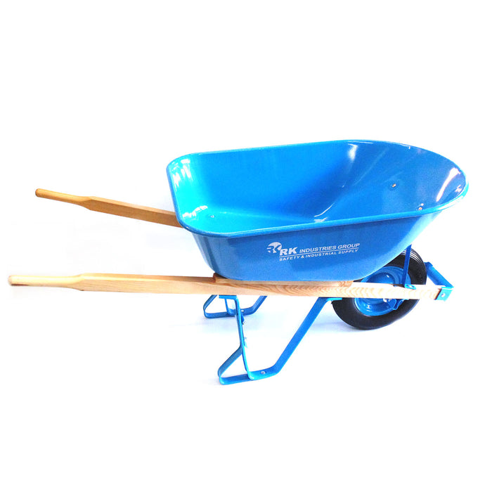 Wheelbarrow 7 Cube Feet Steel, Non-Marking TPR Casters (Local Pickup Only) - RK Safety