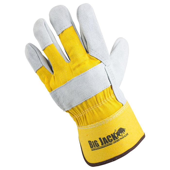 Better Grip® Cowhide Palm Gloves with rubberized safety cuff - BGBY22Y-Better Grip-RK Safety