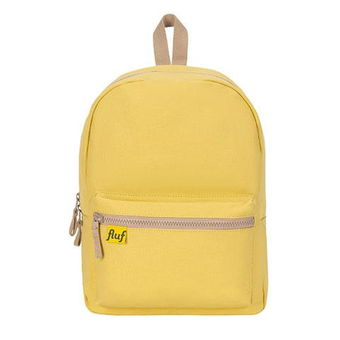 B Pack Yellow Organic Cotton Backpack Front