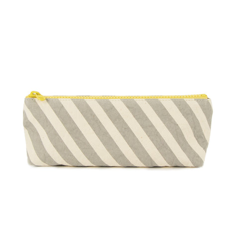 Pencil Case - GREY STRIPE