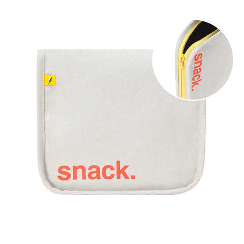 Snack Mat - 'Snack' Orange with Yellow Zip