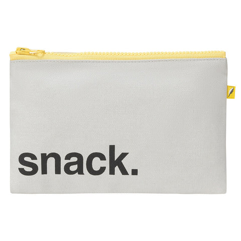 Zip Snack Sack - 'Snack' Black (Snack Size)