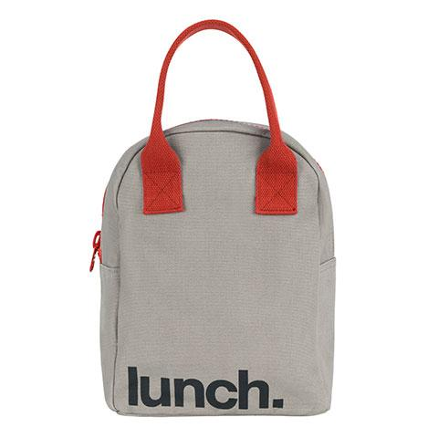 Zipper Lunch - 'Lunch' Grey / RUST