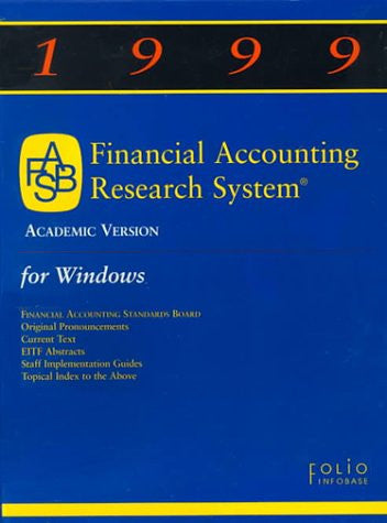 1999 Financial Accounting Research System (FARS) - Academic Version