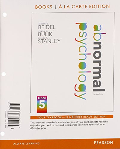 Abnormal Psychology, Books a la Carte Plus NEW MyPsychLab with eText -- Access Card Package (3rd Edition)