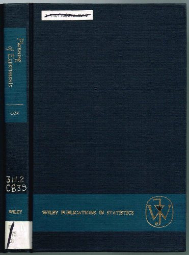Planning of Experiments (Wiley Series in Probability and Statistics - Applied Probability and Statistics Section)