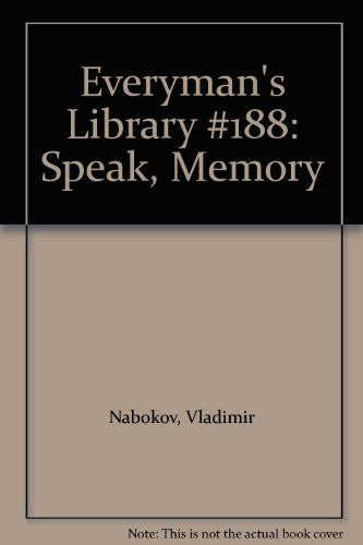 Everyman's Library #188: Speak, Memory