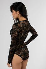 Load image into Gallery viewer, Soft Lace Long Sleeve Bodysuit