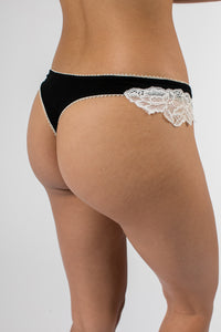 Soft Side Lace Thong