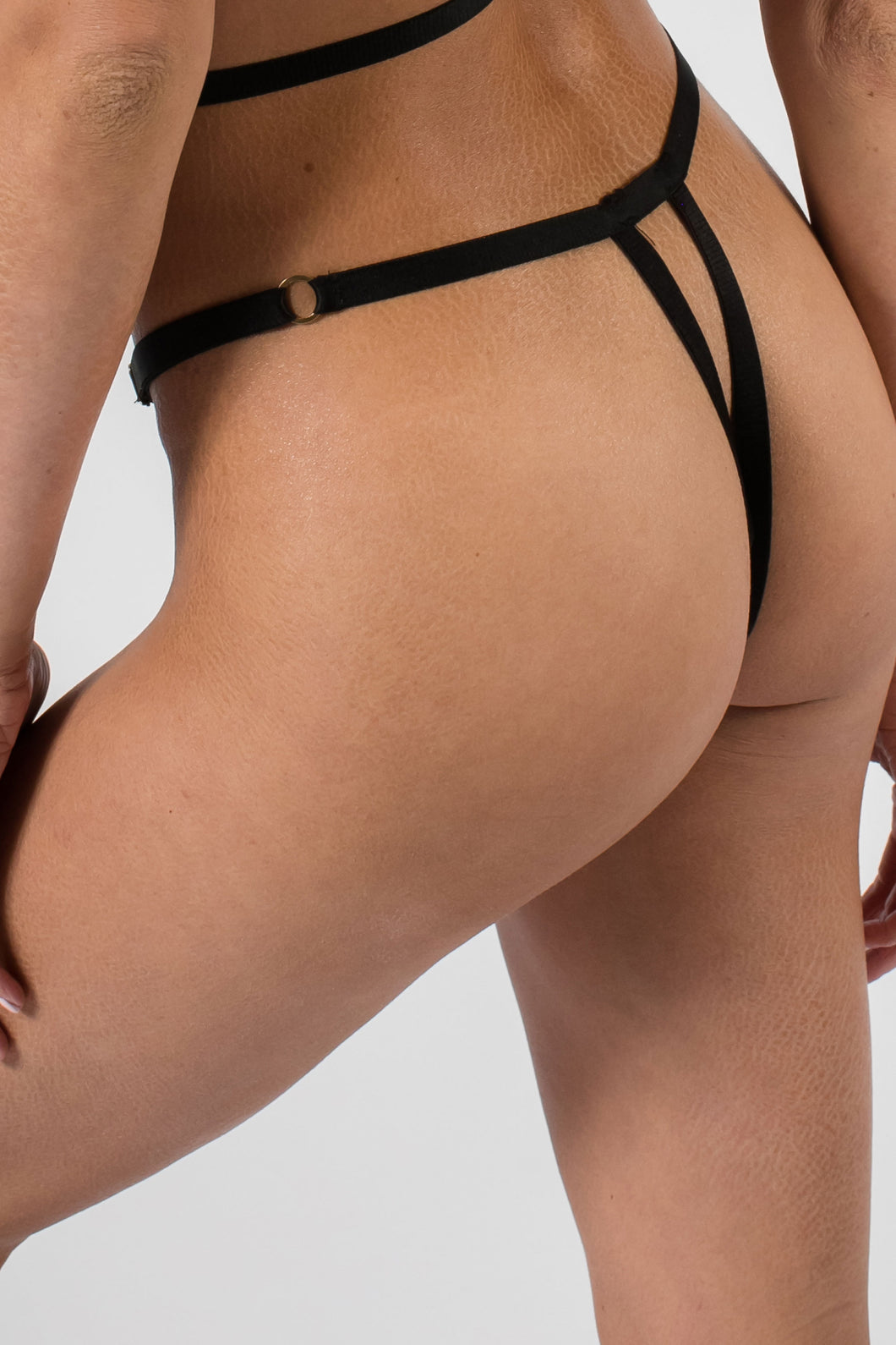 Adjustable One Size Lace Thong