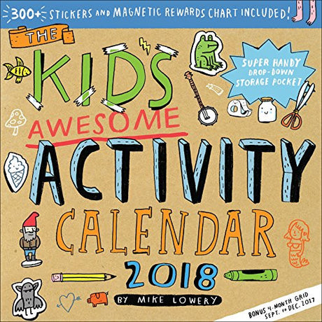 The Kid's Awesome Activity Wall Calendar 2018