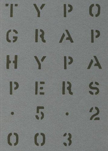Typography Papers: Number 5 (v. 5)