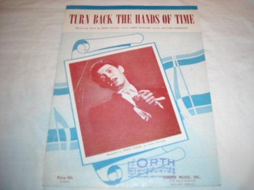 TURN BACK THE HANDS OF TIME EDDIE FISHER 1951 SHEET MU SHEET MUSIC 241
