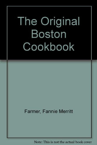 The Original Boston Cookbook