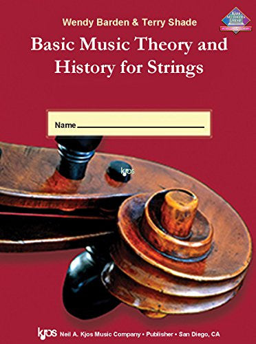 L65SB - Basic Music Theory and History for Strings - Workbook 1 - String Bass