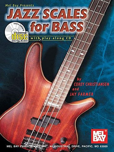 Mel Bay Jazz Scales for Bass Book/CD Set