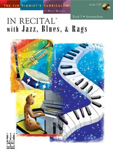 In Recital with Jazz, Blues, and Rags, Book 5 (includes CD) by various (2008-02-01)
