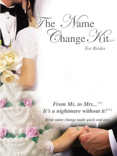 The Name Change Kit For Brides With Brides Name Change Software (CD for Mac & PC), The Name Change Kit Planner Guide & On-line Name Change Web Space & Tracking System