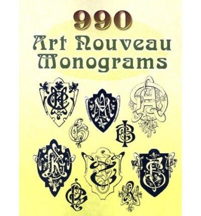 990 Art Nouveau Monograms (Dover Pictorial Archives) (Paperback) - Common