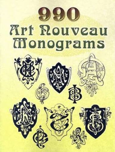 990 Art Nouveau Monograms (Dover Pictorial Archive)