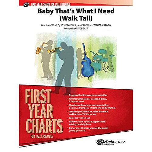 Alfred Baby That's What I Need (Walk Tall) Jazz Band - Grade 1 Set