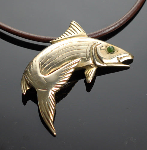 Bronze bonefish necklace