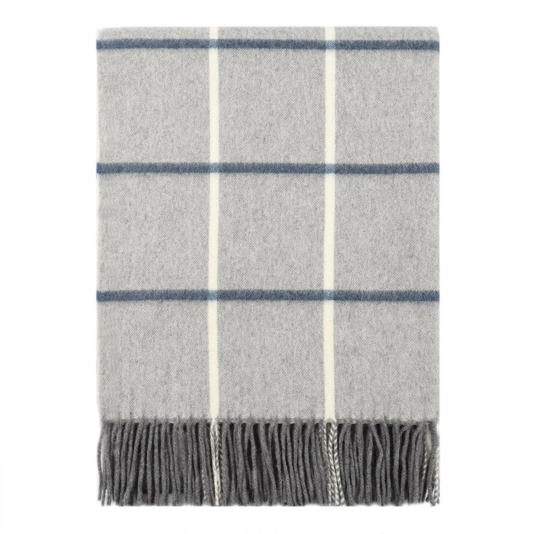 Superfine Merino is woven with a bold stripe design and has a luxurious feel. Woven at the Bute Fabrics mill on the Isle of Bute, this stole is the perfect lightweight accessory.