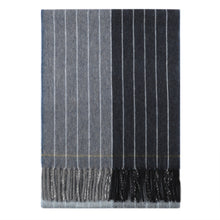 Load image into Gallery viewer, Superfine Merino is woven with a contemporary pinstripe design and has a luxurious feel. Woven at the Bute Fabrics mill on the Isle of Bute, this scarf is the perfect lightweight accessory.