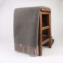 Load image into Gallery viewer, Braemar has a chunky honeycomb design, giving it a contemporary texture ideal for a modern home. Woven at the Bute Fabrics mill on the Isle of Bute, the woven pure wool is warm and breathable for a soft home comfort.