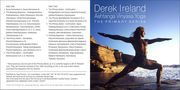 Ashtanga Vinyasa Yoga - The Primary Series by Derek Ireland CD