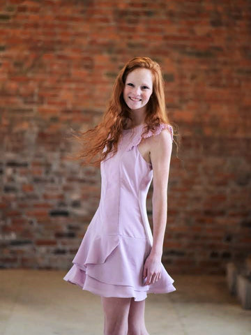 ADELYN RAE Lavender Dress